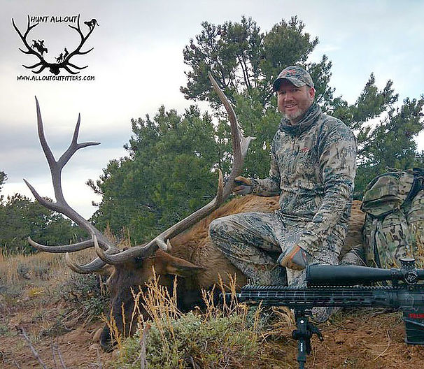 unit 61 elk hunting with Allout Outfitters